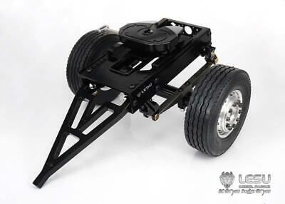 UK Stock LESU Metal Trailer B Single Axle For 1/14 RC TAMIYA Tractor Truck  DIY • 162.15£