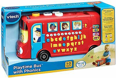 VTECH Playtime Bus With Phonics 2-5 Years Learning Letters Sensory Vocabulary • 18£