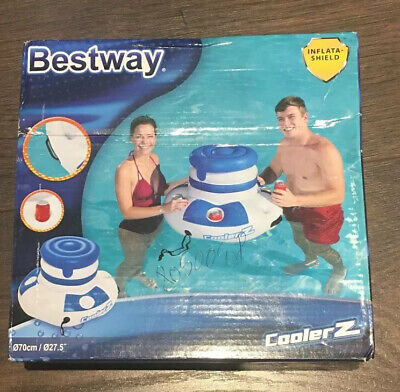 Bestway Coolerz Inflatable Floating Swimming Pool Bar Cooler • 34.99£