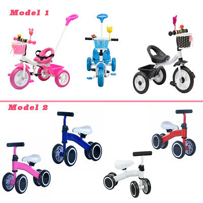 Kids Trike Boys Girls Push Along Tricycle / MINI KIDS BALANCE PUSHING BIKE New  • 14.89£