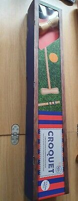 2- 4 Player Wooden Croquet Set-the Wooden Garden Games Collection • 13.99£