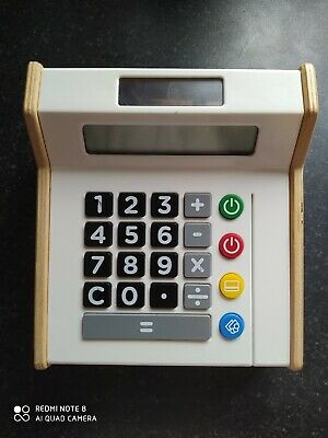 Ikea Toy Cash Register Till Calculator Quality Wooden & Plastic Toy  • 11.99£