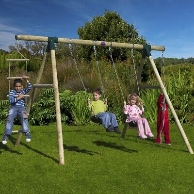 Plum Gibbon Wooden Swing Set • 219.95£
