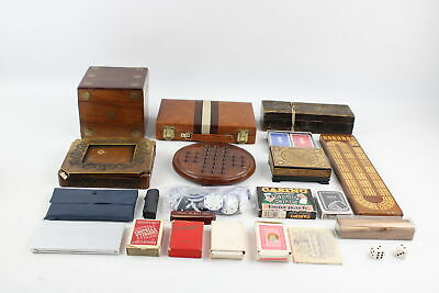 Job Lot Of Assorted Vintage PLAYING CARDS, GAMES & PIECES Inc Chess, Cribbage • 26.09£