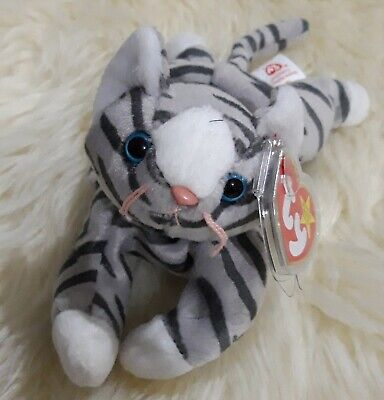 TY Beanie Babies PRANCE Grey Cat Kitten Plush MWMTs 1997 Hang Tag Protected  • 4.90£