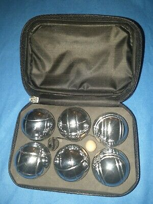 Petanque Boules Set 6 Mini French Ball Stainless Steel With Case NO RESERVE • 6.50£