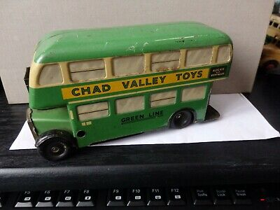 Chad Valley Green Line Bus Wind-up No Key • 35£