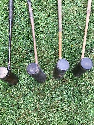 Early Vintage Individual Croquet Mallets - 4 In Total • 80£