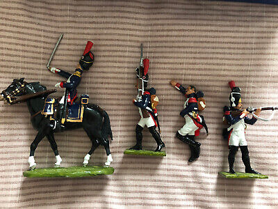LITTLE LEGION NAP/2 FRENCH IMPERIAL GUARD OFFICER MILITARY TOY SOLDIERS - Good! • 15£