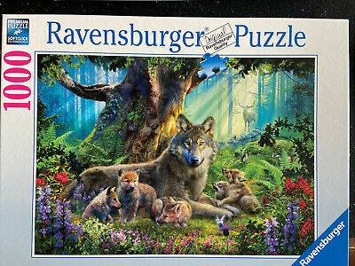 Ravensburger 1000 Piece Jigsaw Puzzle Wolves In The Forest • 5£