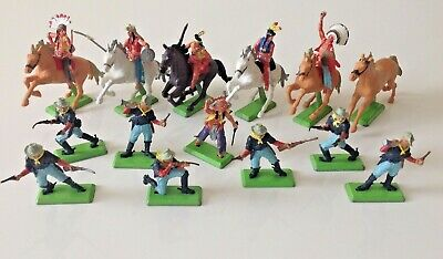 BRITAINS LTD Deetail 1971 Mounted Horses Cowboys And Indians Bundle   • 59.99£