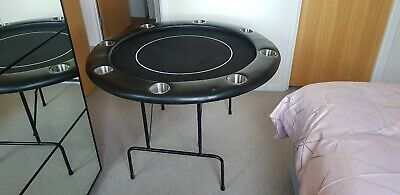 Folding 8 Person Round Poker Table • 15£