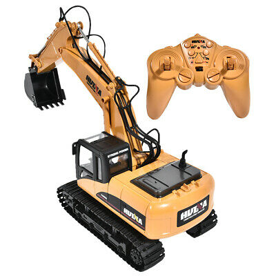 HUINA 1550 2.4G 1/14 15Channel Electronic Excavator Remote Control Truck RC Toy • 40.99£