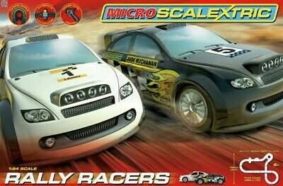 Micro Scalextric 1:64 Scale Rally Racers Race Set Brand New  • 40£
