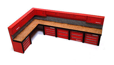 1/64th Scale LARGE Workbench For Hot Wheels, Matchbox & Other Diecast Cars • 5£