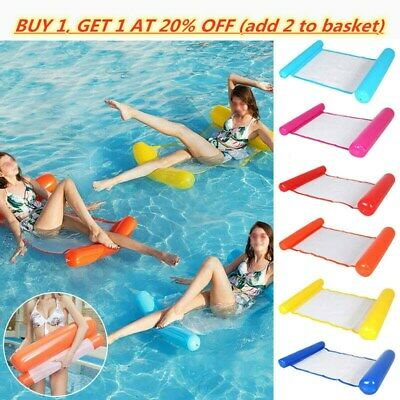 Inflatable Floating Water Hammock Float Pool Lounge Bed Swimming Chair • 1.99£
