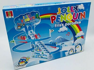 Jolly Penguin Race Game Jolly Slide Classic Racer Electronic Track Childrens NEW • 7.99£