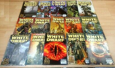 Games Workshop Warhammer White Dwarf Magazine Bundle Feat Lord Of The Rings X 12 • 19.99£