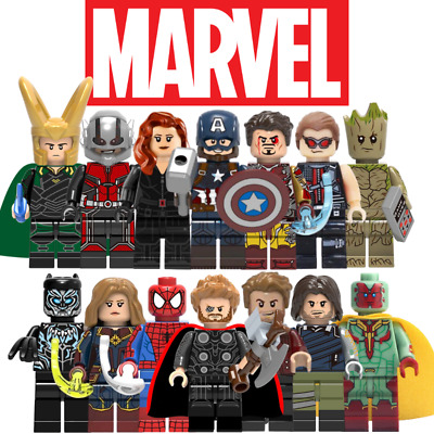 LEGO Custom Marvel Avengers Mini Figures - Superheroes Iron Ant Man Thor Hulk DC • 17.99£
