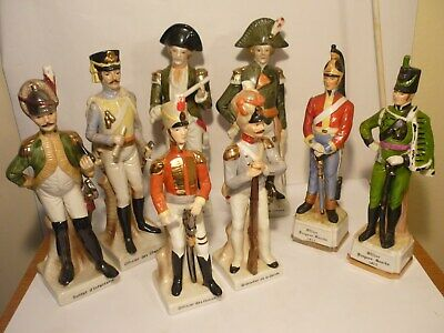 8 X Soldier Ceramic Figures Hand Painted  • 44£