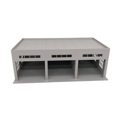 Outland Models Miniatures 3-Stall Large Garage For Trucks / Cars 1:64 • 14.39£