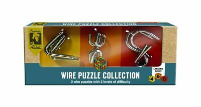 Rubik's Metal Wire Puzzle Collection Mental Logic Challenges Brain Training Game • 10.95£