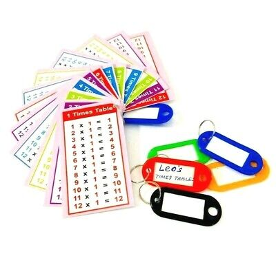 Times Tables Flash Cards  Home School Math Resource Pocket Size Pink And Blue UK • 1.99£