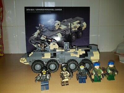 Lego Brickmania BTR-82A Armored Personnel Carrier And 5 Russian Spetnaz • 240£
