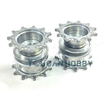 UK Stock New Metal Sprockets Driving Wheels For HengLong M1A2 RC 1/16 Tank 3918 • 23.99£