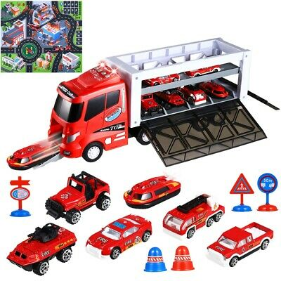 Toy Truck Carrier 13x Mini Cars Play Set Transport Car Toys Lorry Truck Kids Toy • 17.39£