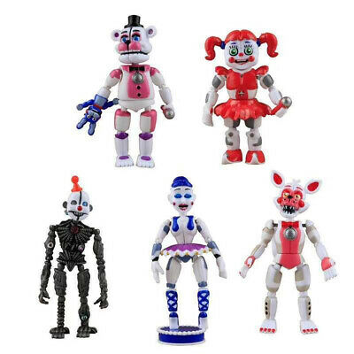 Five Nights At Freddy's FNAF Action 5 Figures Toys Sister Location Foxy Freddy • 12.76£