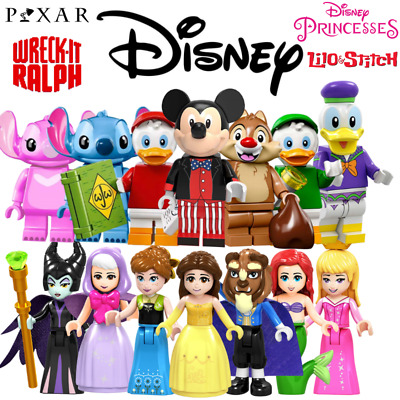 Disney And Pixar Mini Figures - Lego Compatible Stitch Mickey Frozen Toy Story • 19.99£