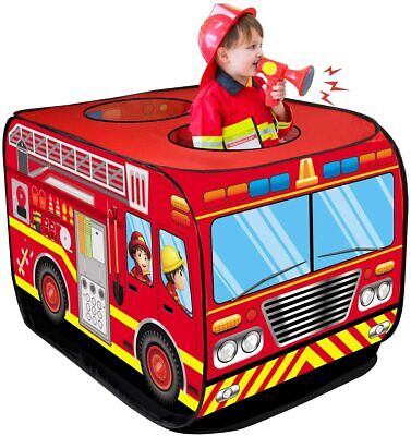 Fire Truck Pop Up Play Kids Tents Indoor Outdoor Playhouses Foldable Fire Engine • 13.99£