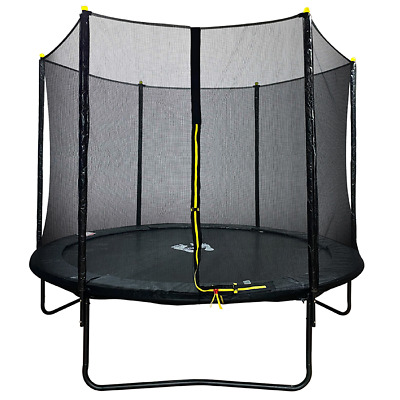 Velocity 8ft Powder Coated Trampoline With Safety Enclosure • 129.95£