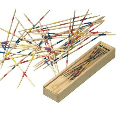 Mikado Wooden Pick Up Sticks Kids Traditional Retro Game Party Favour Gift UK • 2.29£