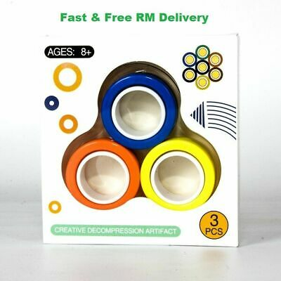 Fingers Magnetic Finger Rings -  Stress Relief Magnetic Rings Finger Toy, Game • 2.99£