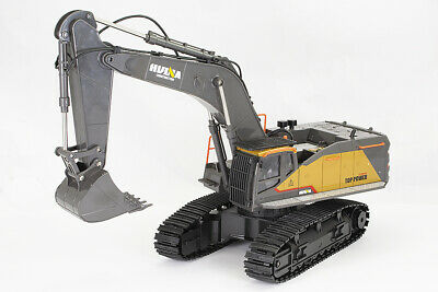 Large 1/14th Scale 22 Channel RC Excavator With Metal Cab & Bucket, Lights & Sou • 95.98£