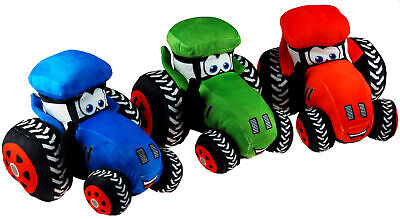 Plush Soft Cuddly Tractor Toy - Choice Of Colours • 26.99£