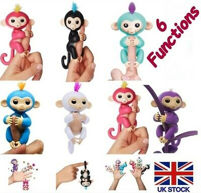 Baby Happy Monkey Kids Childrens Fun Play Interactive Finger Toy 6 Functions New • 8.49£