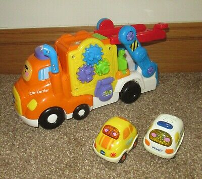 Vtech Toot Toot Driver Car Carrier Lorry With 2 Vehicles, Lights & Sounds • 5.50£
