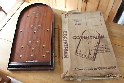 Vintage Complete Bagatelle Board Corinthian T21 In Original Box Balls And Cue  • 49.99£