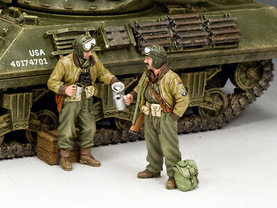 KING AND COUNTRY WW2 US Tank Crews Set #1 D Day DD280 • 108.95£