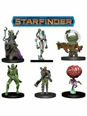 Starfinder Battles Starter Pack Galactic Villains Roleplaying Game RPG Miniature • 34.99£