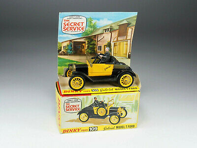 DINKY TOYS ENGLAND - 109 - Gabriel Model T Ford « The Secret Service » • 9.06£