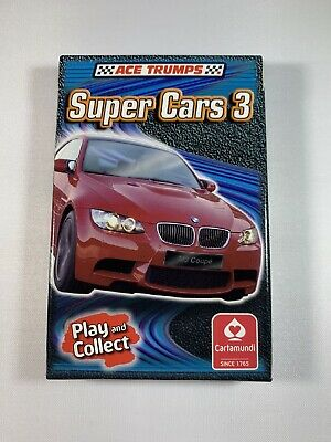 ACE TRUMPS - Super Cars 3 Top Trumps Game - Play And Collect - BRAND NEW SEALED! • 3.50£
