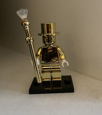 Series 10 Mr Gold Custom Minifigure. Compatible  With Lego • 7.99£