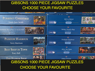 GIBSONS - 1000 Piece Jigsaw Puzzles - MULTI LISTING - CHOOSE YOUR OWN • 9.99£