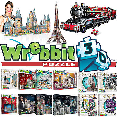 Wrebbit 3D Jigsaw Puzzle - Harry Potter, Hogwarts, Game Of Thrones & Castles • 33.99£