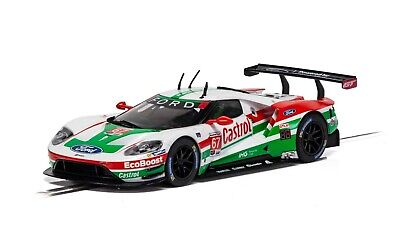 C4151 Scalextric Slot Car 1:32 Scale Ford GT GTE Daytona 2019 #67 Castrol Lights • 39.99£