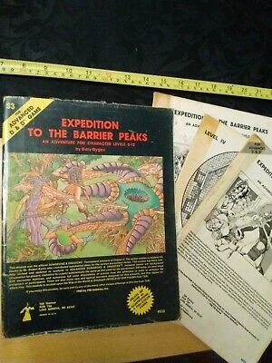 Expedition To The Barrier Peaks AD&D 1st Edition Module TSR 9033 S3 1980,1981 • 11£